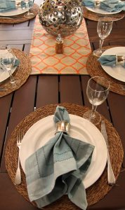 Table Setting in Sunroom best shot